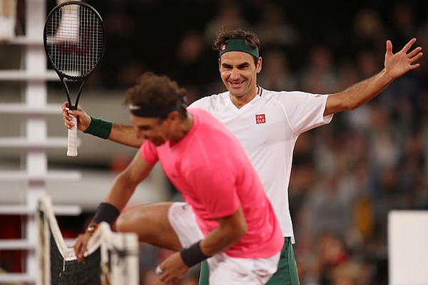 Roger Federer and Rafael Nadal charity match draws over 50000 spectators in South Africa - Tennis News in Hindi