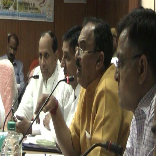 education minister took review meeting on panchayat camps - Churu News in Hindi