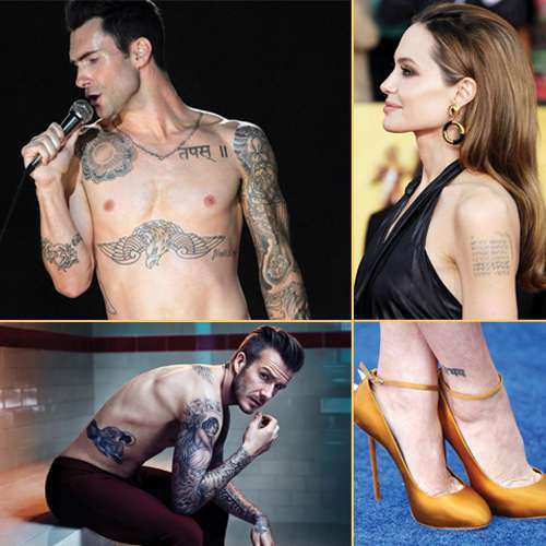 Hollywood celebrity inked with sanskrit tatto - Chandigarh News in Hindi