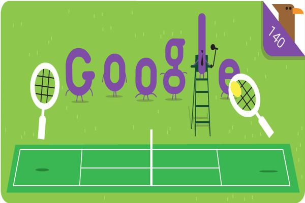 Google dedicates this Doodle to 140th edition of wimbledon grandslam - Tennis News in Hindi