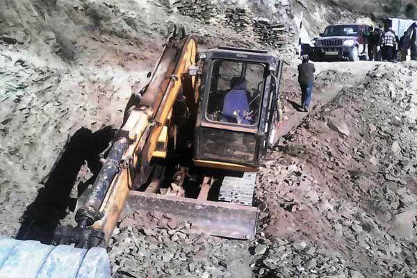 Construction of the Rumali- dim road began - Kullu News in Hindi