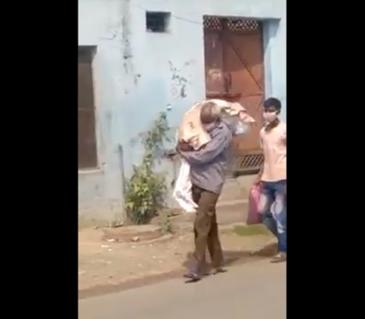 Father carries dead body on shoulder to cremate corona positive daughter - Jalandhar News in Hindi