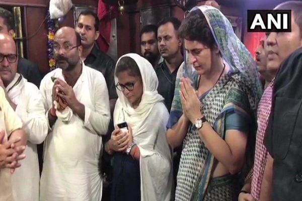 Sonbhadra murder case: प्रियंका गांधी का धरना खत्म, काल भैरव के किए दर्शन, दिल्ली रवाना