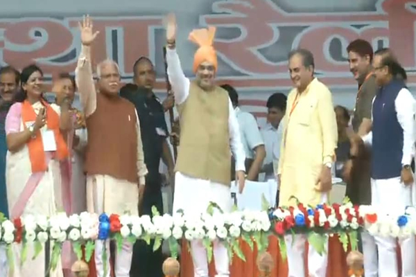 Home Minister Amit Shah said, Article370 was a hurdle in the way of Sardar Patel dream of one India in Jind, Haryana - Jind News in Hindi