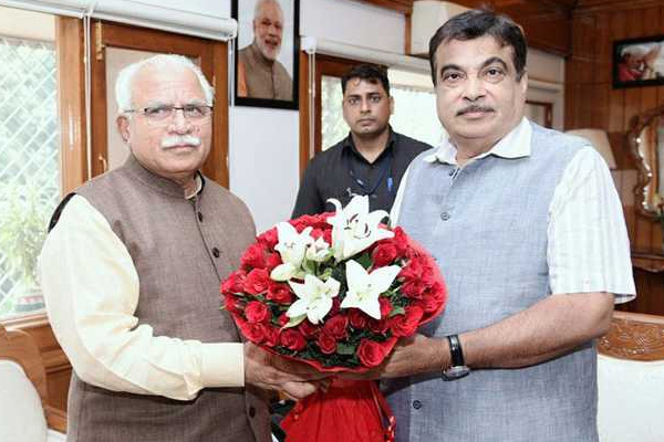 Lakhwar dam project: Chief Minister of 6 states, MOU sign in presence of Nitin Gadkari - Chandigarh News in Hindi