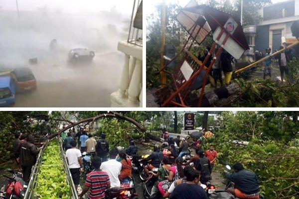 see in pics how cyclone vardah disturbed life of tamilnadu - Chennai News in Hindi