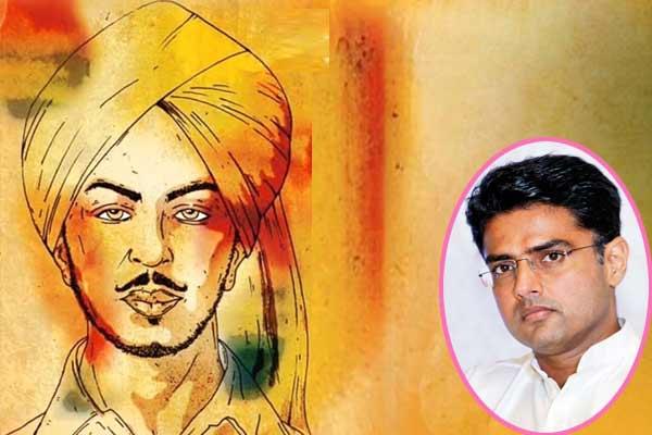 पायलट ने दी शहीद-ए-आजम भगत सिंह को उनकी 111 वीं जयंती पर श्रद्धांजलि
