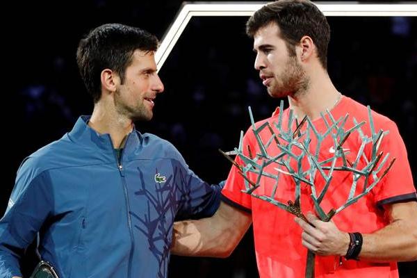 Karen Khachanov beat Novak Djokovic to clinch paris masters title - Tennis News in Hindi