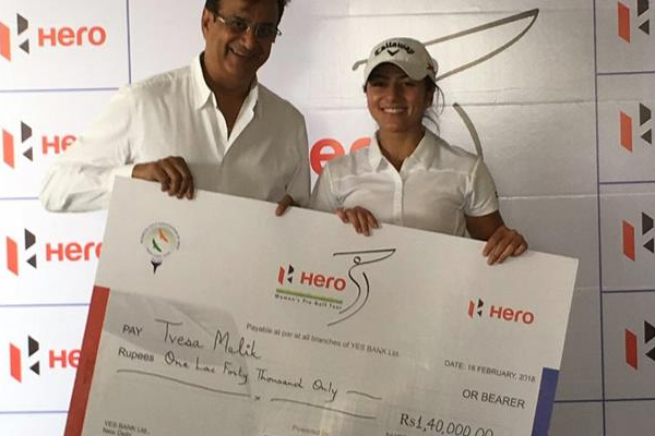 Tvesa Malik wins 4th leg of Hero women golf Tour - Sports News in Hindi