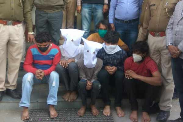 Six crooks arrested in Jaipur, looted Rs 5.14 lakh from dairy cash collection agent - Jaipur News in Hindi