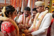 Smt. DK Shivkumar daughter wedding in Bengaluru. K Krishna grandson - Bengaluru News in Hindi