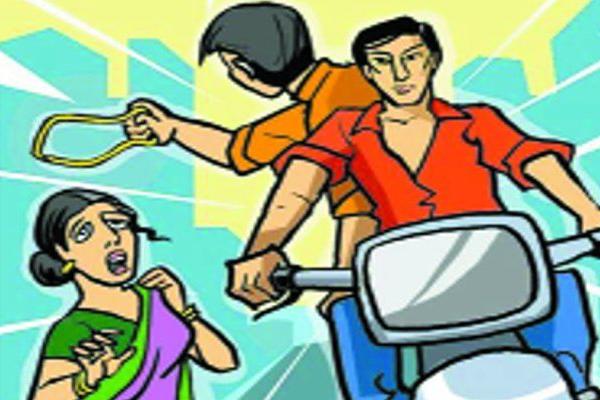 A crook took a woman chain in Jaipur - Jaipur News in Hindi