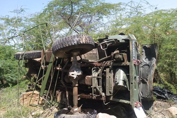 Three Jawans Died When An Air Force Truck Overturned - Barmer News in Hindi