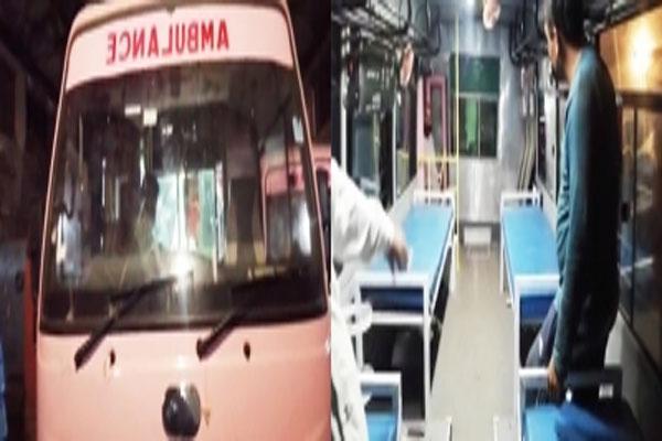 हरियाणा रोडवेज ने 5 मिनी बसों को एम्बुलेंस में बदला