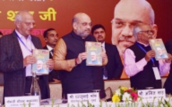 Amit Shah released Prime Minister Modi biography - Delhi News in Hindi
