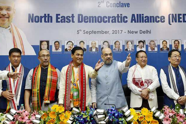 Amit Shah confident BJP led alliance will be in power throughout North east - India News in Hindi