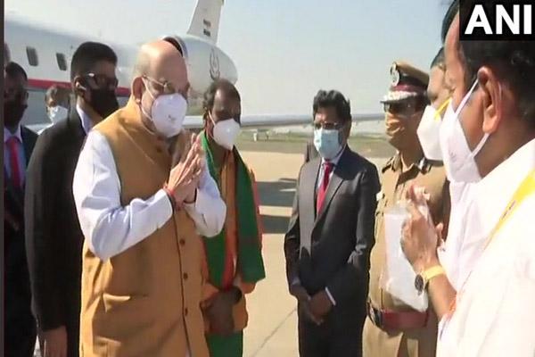 Union Home Minister Amit Shah arrives in Chennai - Chennai News in Hindi