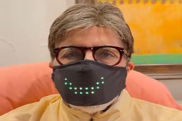 Amitabh Bachchan wearing a mask - Bollywood News in Hindi