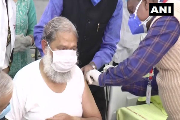 Covaxin trial, dose given to Haryana Health Minister Anil Vij - Rohtak News in Hindi