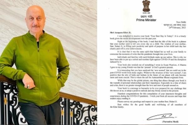 Anupam Kher honoured and humbled on receiving PM Modi signed letter - Bollywood News in Hindi