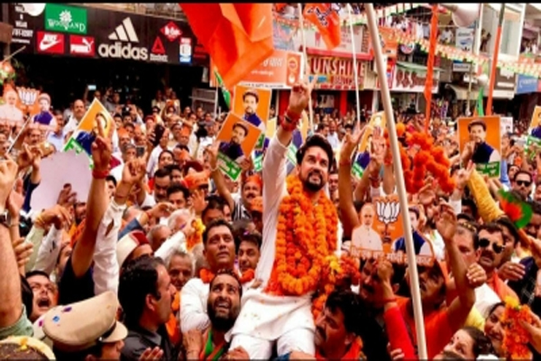 Political journey of Anurag Thakur - Shimla News in Hindi