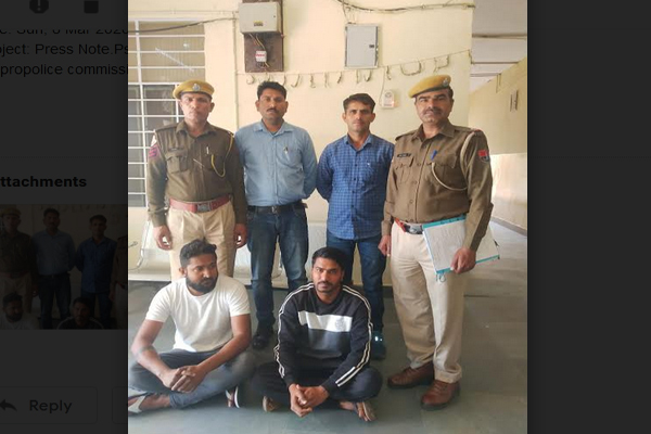 Illegal liquor factory busted in Jaipur, two crooks arrested - Jaipur News in Hindi