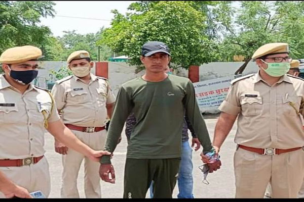 Anuj Gurjar, the main accused in the Bharatpur doctor couple murder case, arrested - Bharatpur News in Hindi