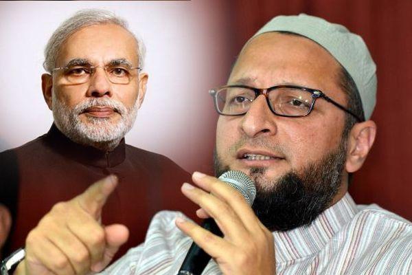 owaisi hits out at PM modi for soft attitude towards gau rakshaks who are acting like terrorists - Hyderabad News in Hindi