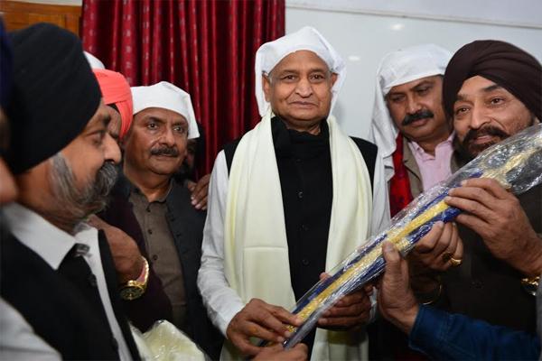 Chief Minister, in the Rajpark gurus, Mattha Teka - Jaipur News in Hindi