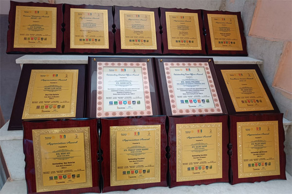 14 awards including Outstanding Club to Rotary Club Jaipur - Jaipur News in Hindi