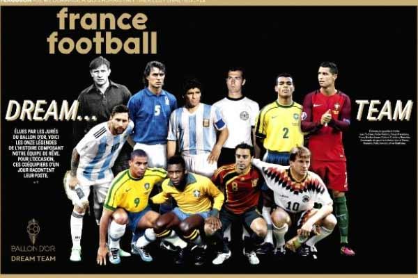 Balon dOr Dream Team includes Messi, Ronaldo and Maradona - Cricket News in Hindi