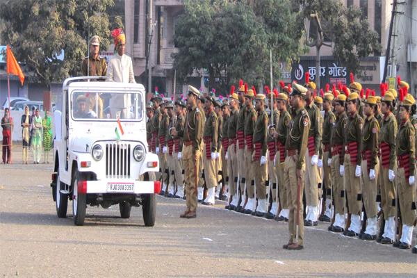 बांसवाड़ा में गणतंत्र दिवस धूमधाम से मनाया