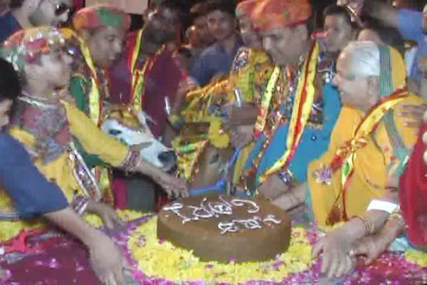 Message of the cows calf celebrating the birthday of the cow - Bhilwara News in Hindi