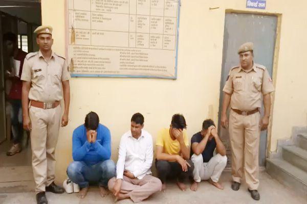 मसाज पार्लर की आड़ में चल रहा था सेक्स रेकेट, 5 महिला व 4 युवक गिरफ्तार