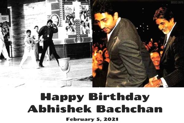 Big B on Abhishek birthday: He leads me now - Bollywood News in Hindi