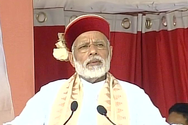 PM Modi lays foundation stone of AIIMS in Bilaspur and Address people - Himachal Bilaspur News in Hindi