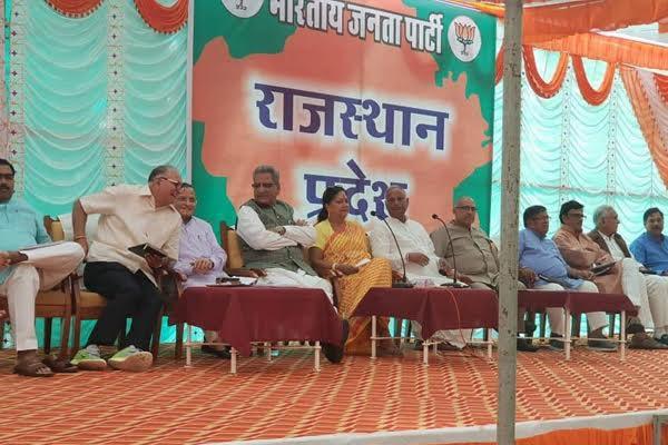 रणकपुर में टिकटों को लेकर भाजपा का मंथन जारी
