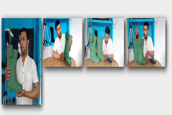 Kashi scientist makes intelligence shoe, will prevent infiltration at border, - Varanasi News in Hindi