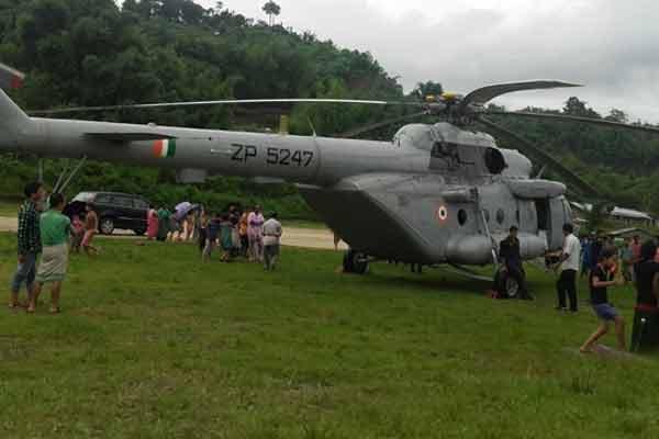 Union Minister Kiren Rijiju Helicopter Makes Emergency Landing in Itanagar - Itanagar News in Hindi