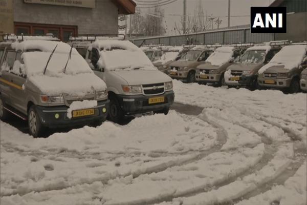 Rain and snowfall increase night temperatures in Jammu and Kashmir, Ladakh - Srinagar News in Hindi