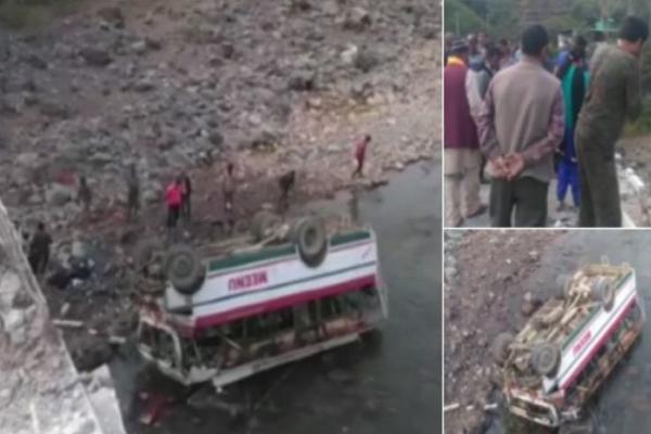 हिमाचल प्रदेश : गहरी खाई में गिरी बस, हादसे में 9 लोगों की मौत