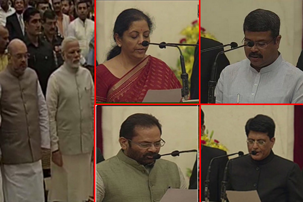 Modi Ministry Reshuffle : 9 new faces, 4 promoted to cabinet ranks - India News in Hindi