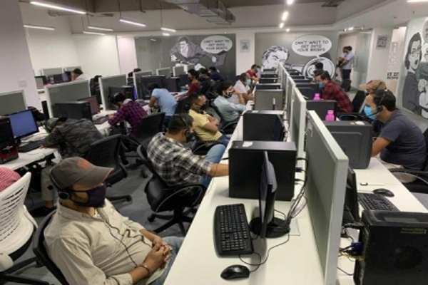 Fake call center busted in Gurugram, one person arrested - Gurugram News in Hindi