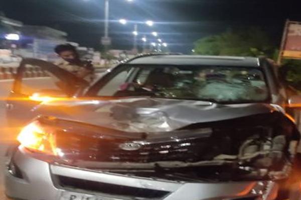 Car collides with bike in Jaipur, bike rider dies - Jaipur News in Hindi