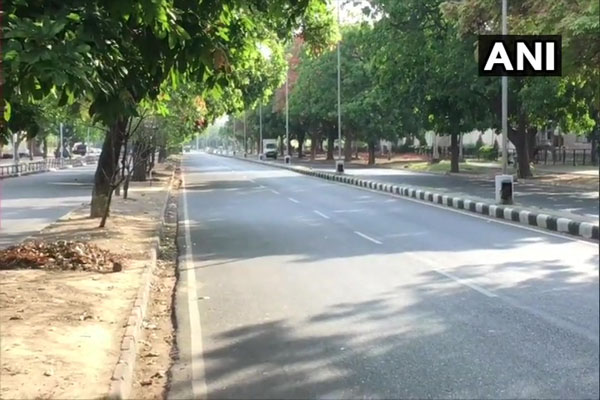 Roads deserted and shops closed in Chandigarh during weekend curfew - Chandigarh News in Hindi