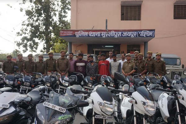 Four gangsters of vehicle thief gang arrested in Jaipur - Jaipur News in Hindi