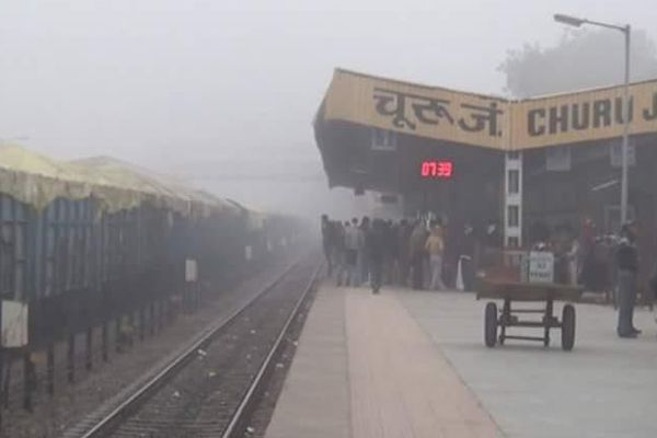 fog in the Churu, people getting trouble - Churu News in Hindi