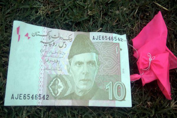 was tied Pakistans currency with Balloon - Churu News in Hindi