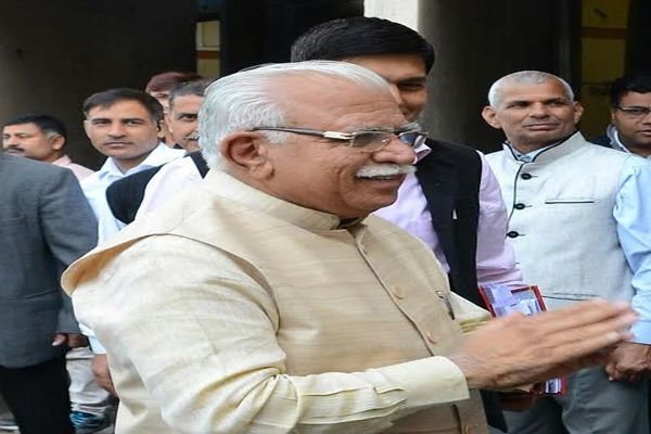 Vis CM answer will bring water from SYL: CM Khattar - Chandigarh News in Hindi