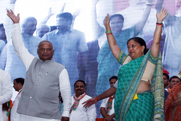 jhunjhunu news : rajasthan gaurav yatra of chief minister vasundhara raje in buhana and jhunjhunu - jhunjhunu News in Hindi